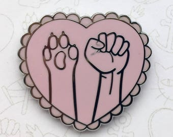 Heart Shaped Kind To All Pin - Pink