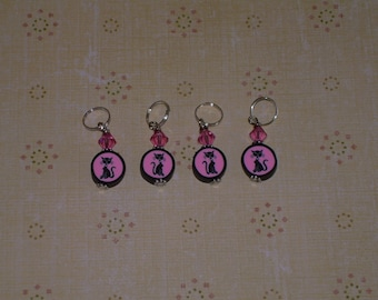 Kitty Kat Stitch Markers,,,,