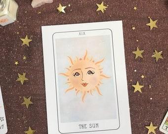 The Sun Tarot Card Illustration 5x7 Fine Art Print