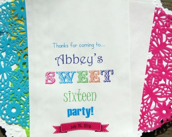 Sweet 16 Birthday |  Sweet 16 Party | Sweet 16 Favor Bags | Sweet 16 Favors | Sweet 16 Bags | Sweet 16 Paper Bags | Sweet 16 | Paper Bags