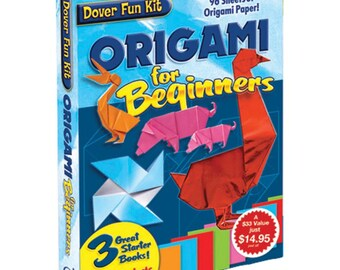 Origami For Beginners Kit - 3 Books and Paper - GREAT GIFT
