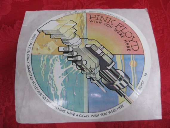 Vintage 1975 pink floyd wish you were here sticker
