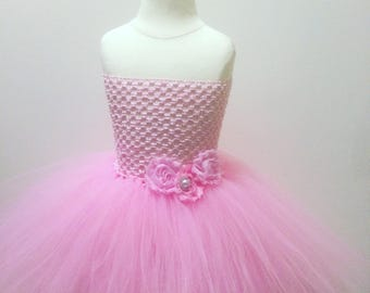 Pink Tutu Dress Flower Girl Dress