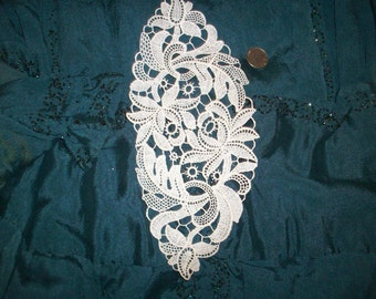 Vintage 1920s cotton lace applique