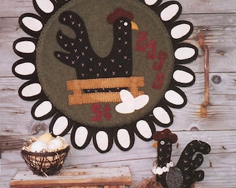 Primitive Penny Rug PATTERN - All in a Days Work - WSD105