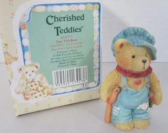 "Vintage Cherished Teddies resin  ""Tiny Ted-Bear "" figurine 1994 Enesco 56-650/674"