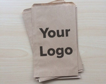 50 Custom Logo Paper Bags - Kraft Paper Bags