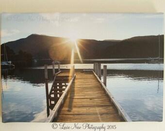 Sunset Dock, New Zealand Canvas print