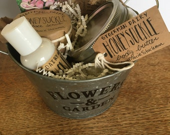 Spring Floral Gift Baskets Goat Milk Products