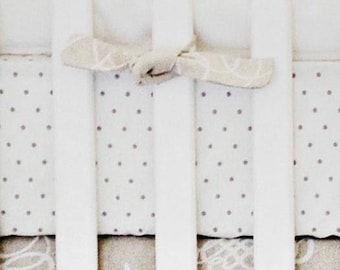 White Pebble Moon Crib Baby Bedding | Crib Sheet