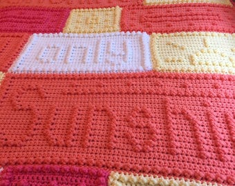 Crocheted Sunshine Blanket