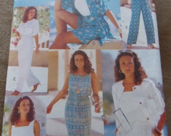 Sewing pattern Butterick 4054 Misses' top, dress, shorts and pants new uncut size XS to M