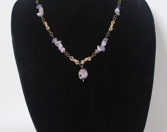 Necklace 14 kt Gold Filled, Semi-Precious Stones