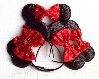 The Mommy and Me Sequin Minnie Ears