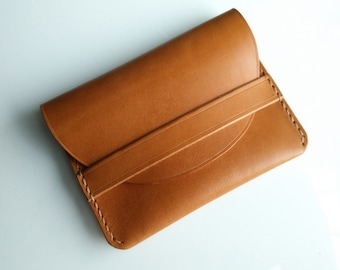 Handmade leather card case, coin purse