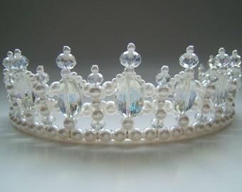 Crystal and Pearl Regal Princess Tiara