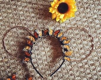 Monarch Butterfly Wire Mouse Ears