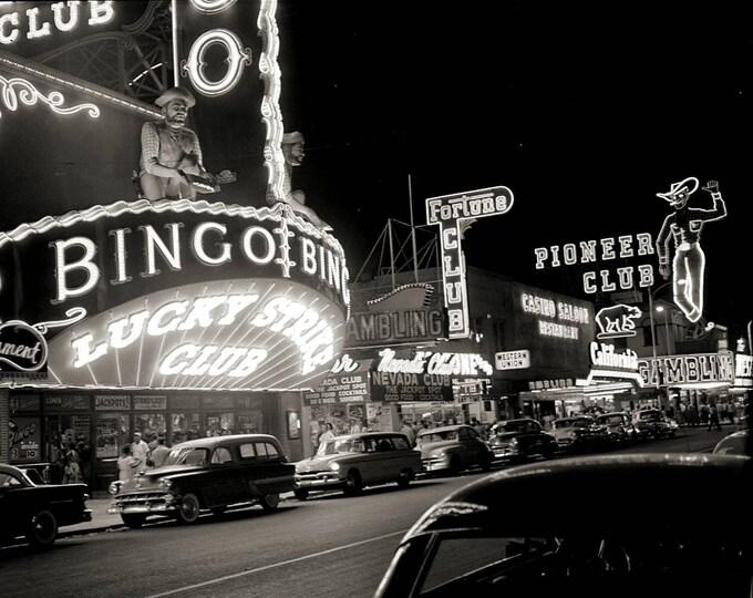 1950s Vintage Photo of the Las Vegas Strip - 8X10 Photo (AA-317)