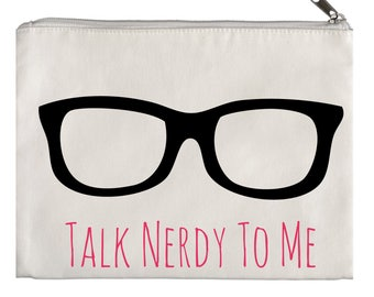 Talk nerdy to me pouch
