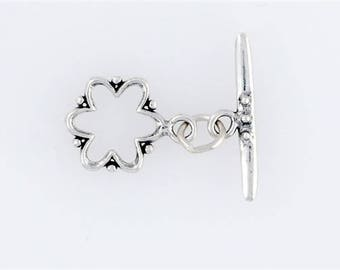 Sterling Silver Scallop Flower Toggle Clasp