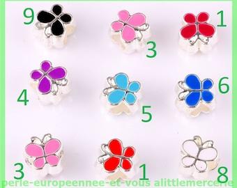 Pearl European N587 N3 Butterfly bracelet charms