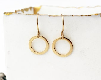 14k Solid Gold Hoop Earrings. Solid Gold Hoops. Small Gold Hoop Earrings. Unique Gold Hoop Earrings. Handmade Gold Jewelry. Gift for Her