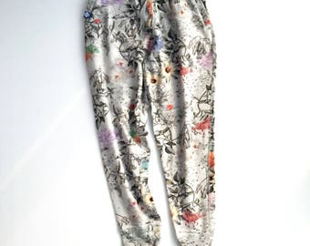 Paul smith botanical print french terry jogger pants
