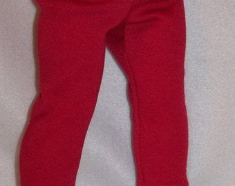 18 inch Doll Red Leggings