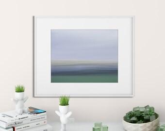 Abstract River Photo | Framed art print | Home Decor | Beach house decor | Impressionist photo | Blue |Green |8x10 | 11 x14 | 16x20 | 20 x30