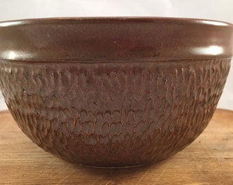 Brown textured bowl