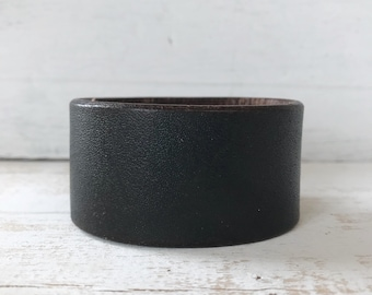 Upcycled Leather Cuff (longer length)