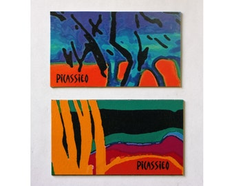 Twigs and Mimsy Magnet Set collectible wildly colorful abstract art
