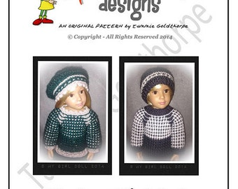 Noelle and CHRISTIAN Original Knitting Pattern for Kidz'n'Cats 18 inch Play Dolls. INSTANT DOWNLOAD
