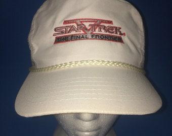Vintage Star Trek The final frontier Trucker Snapback hat movie 1989