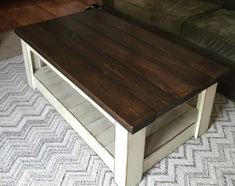 Distressed Coffee Table Free Shipping