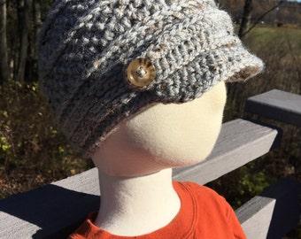 Crocheted Newsboy Hat Infant/Toddler Sizes