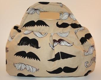 Moustache Pleated Handbag
