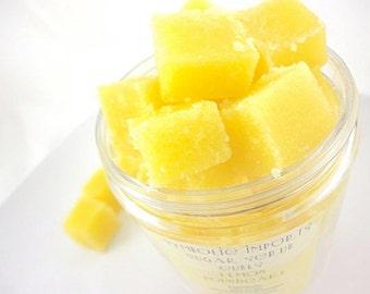 Lemon Poundcake - Sugar Scrub Cubes - 8 ounce Jar