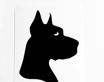 DIY Vinyl Decal Great Dane Dog, Choose Size, Choose Color, Laptop, Tablet, Cell Phone, Car Window, Picture Frame, Drinkware, Glassware