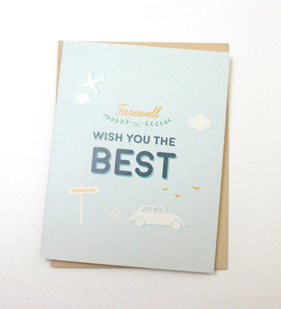 farewell wish you the best  farewell card  good bye card