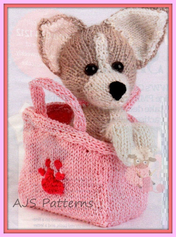 Pdf Knitting Pattern For Tiny Dog Chihuahua Dog Carry Bag Soft