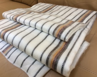 Alpaca Wool Blanket Throw from Ecuador brown white, queen, Alpaca Blanket, Wool Throw