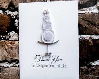 Wedding Thank You Card For Your Wedding Cake Designer, Thank You For Baking Card- Wedding Cake Baker Card -Wedding Card- Wedding Baker Card
