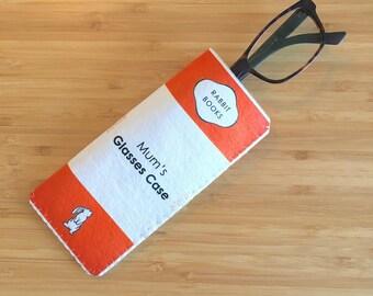 Personalised Book Glasses Case, Reading Glasses Case, Soft Glasses Case,Reading Glasses Sleeve, Book Lover Gift, Gift for Reader, Book Gift