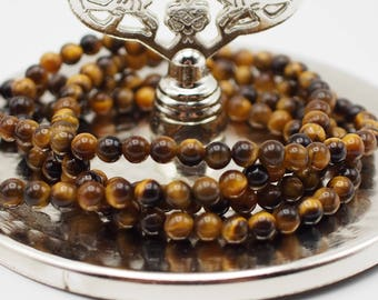 4 mm  Round Tigereye Gemstone, Natural Stone, Brown Yellowish Tigereye Beads, 15,75 inches, Jewellery Making Beads, Turkish Jewellery