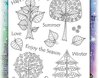Trees, Seasons, Rubber Stamps, Four Seasons, Rubber Dance Stamps, Papercraft, Winter, Spring, Autumn, Fall, Spring