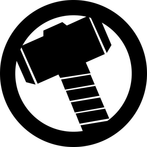 Thor Hammer Decal