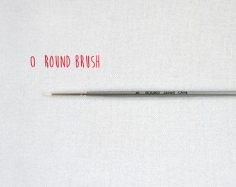 Paint brush -  size 0 round brush - synthetic fine detailing - acrylic paint brush