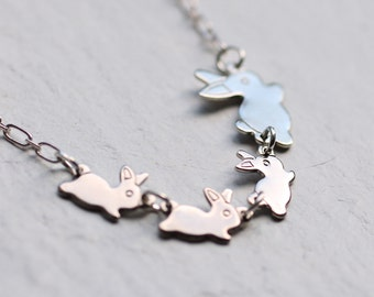 Rabbit Necklace ... Personalised Gift Mother New Baby