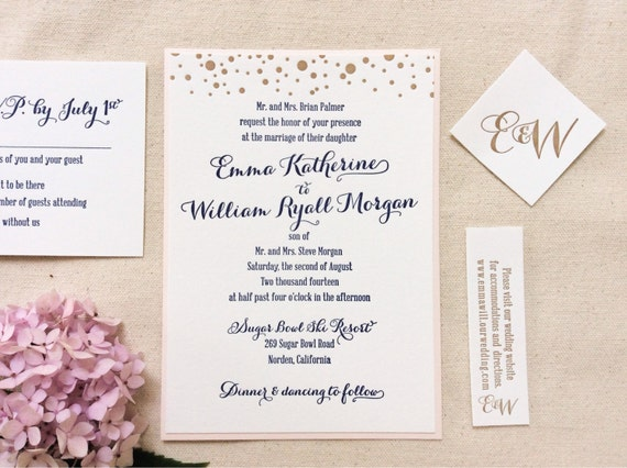 Items similar to The Gladiolus Suite Letterpress Wedding